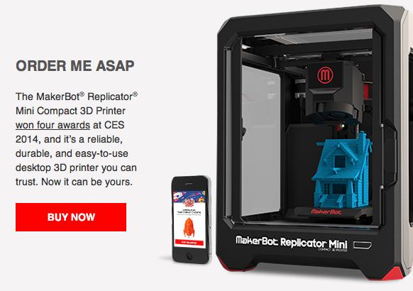 Makerbot Replicator Mini kann ab sofort bestellt werden.