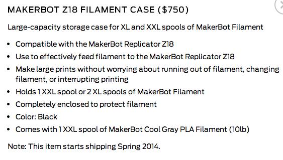 z18 filament case detail
