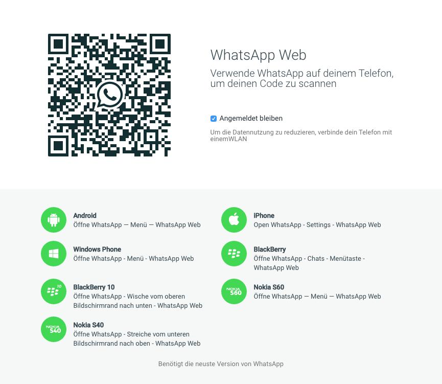 Whastapp Web iPhone