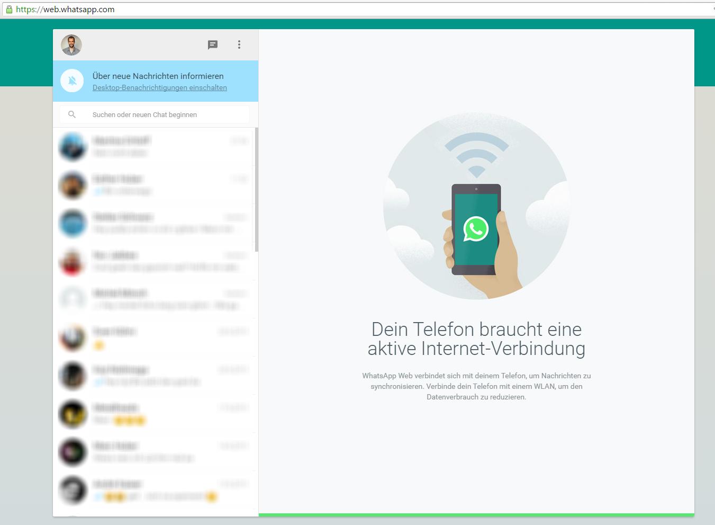 WhatsApp Web auch für iPhone Benutzer